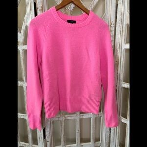 J.crew hot pink sweater knitted small